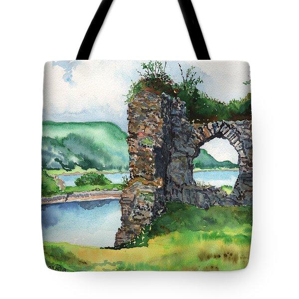 Strome Castle Scotland Tote Bag