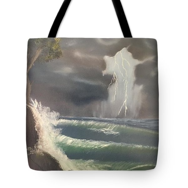 Strong Against The Storm Tote Bag by Thomas Janos