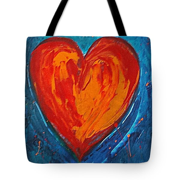 Strong Heart Tote Bag by Diana Bursztein