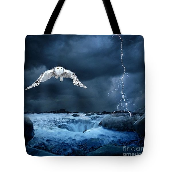 Stronger Than The Storm Tote Bag by Heather King