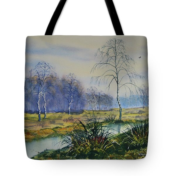 Stream In Flood On Strensall Common Tote Bag