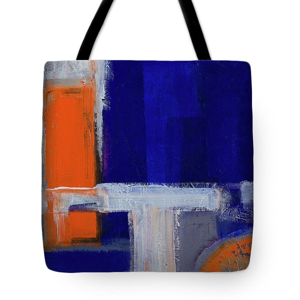 Tote Bag featuring the painting Structure No 2 by Walter Fahmy