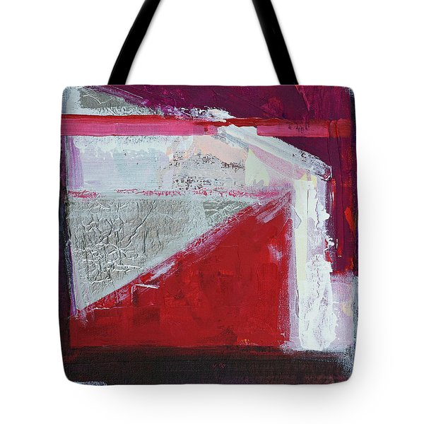 Tote Bag featuring the painting Structure No 3 by Walter Fahmy