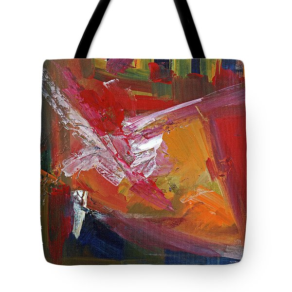 Tote Bag featuring the painting Structure No 4 by Walter Fahmy