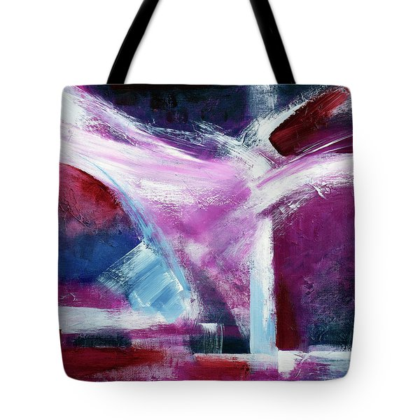 Tote Bag featuring the painting Structure No 5 by Walter Fahmy