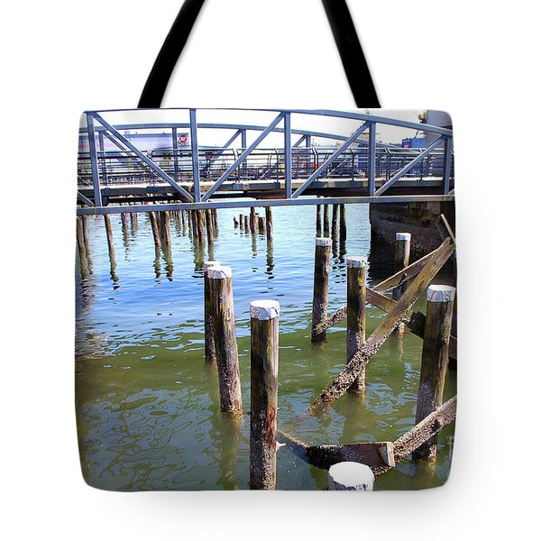Tote Bag featuring the photograph Structures by Bill Thomson