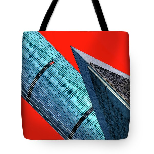 Structures Tilted 2 Tote Bag by Bruce Iorio