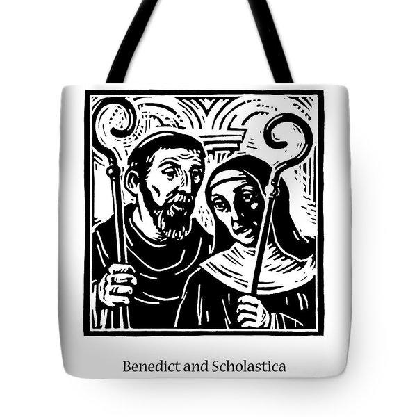 Sts. Benedict And Scholastica - Jlbas Tote Bag