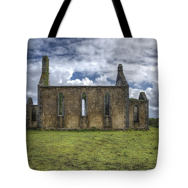 Tote Bag featuring the photograph Stthomas Church In Aran Islands, Inis Mor by Enrico Pelos