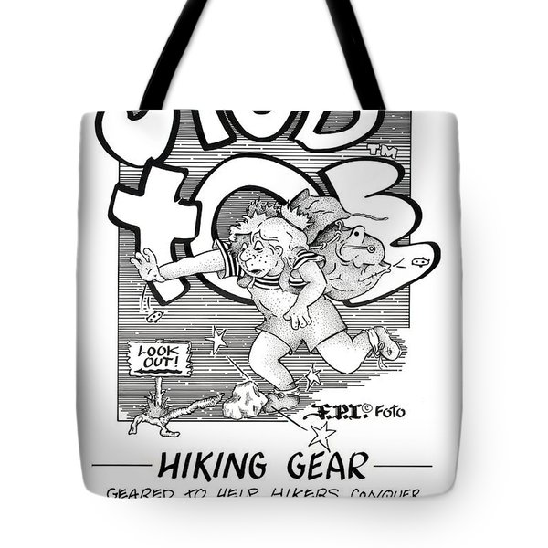 Real Fake Newsstub Toe Hiking Gear Ad Tote Bag