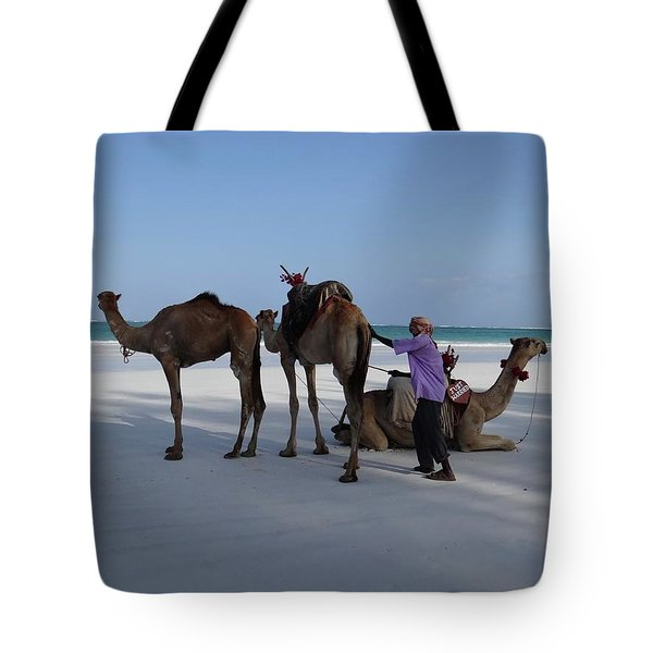 Stubborn Wedding Camels Tote Bag