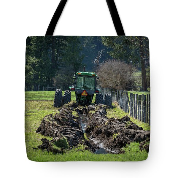 Stuck In The Muck Agriculture Art By Kaylyn Franks Tote Bag