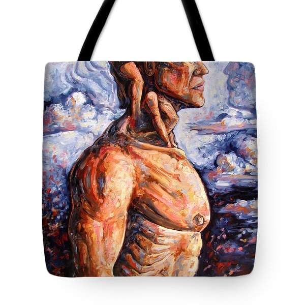 Stuck On You In My Unconscious Paradise Tote Bag by Darwin Leon