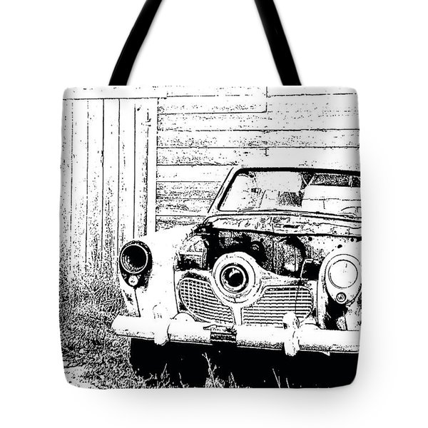 Studebaker Black And White Tote Bag