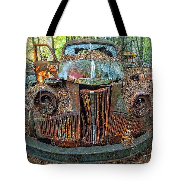 Studebaker With Broken Glass Tote Bag