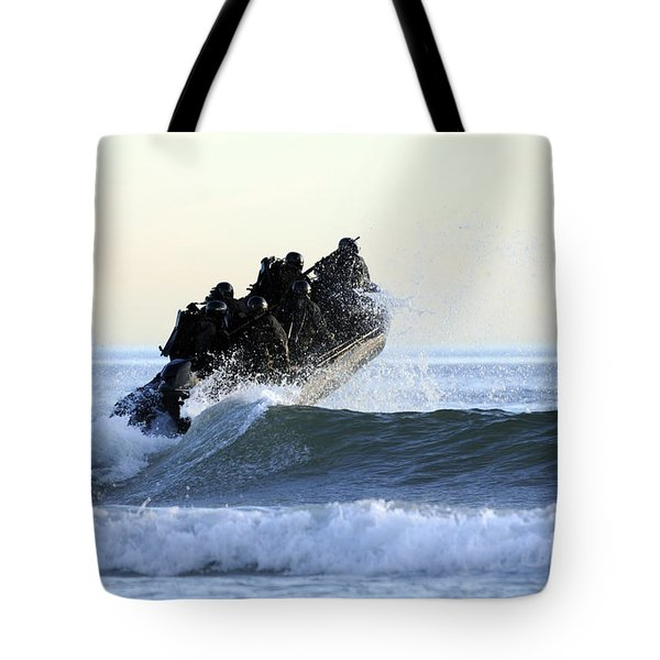 Students In Navy Seals Qualification Tote Bag by Stocktrek Images