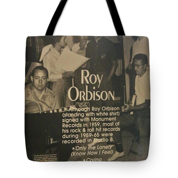 Studio B Roy Orbison  Tote Bag