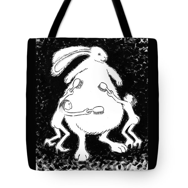 study for Fluffing the Bunny Tote Bag