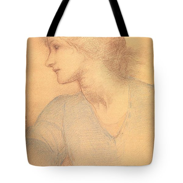 Study In Colored Chalk Tote Bag by Sir Edward Burne-Jones