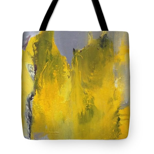 Study In Yellow And Grey Tote Bag