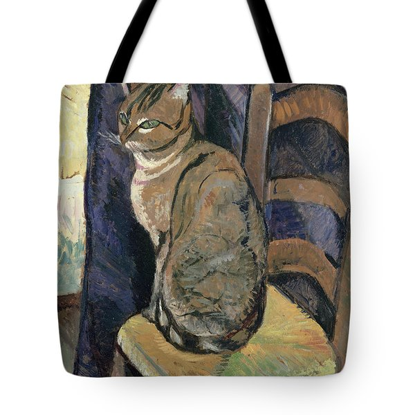 Study Of A Cat Tote Bag by Suzanne Valadon