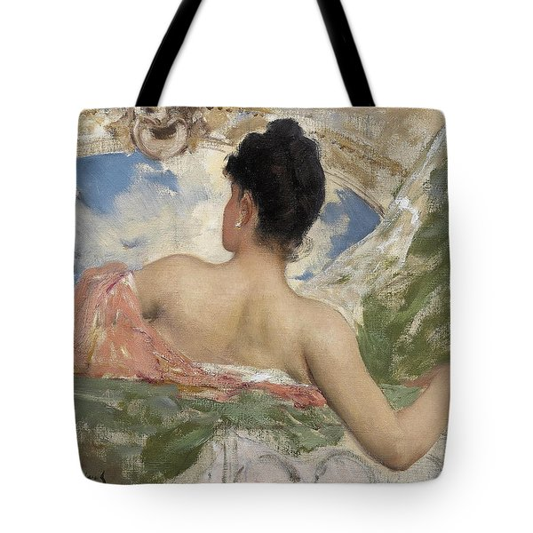 Study Of A Ceiling Figyre In The Opera Paris Tote Bag