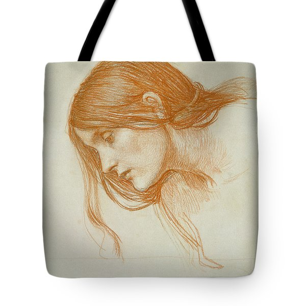 Study Of A Girls Head Tote Bag
