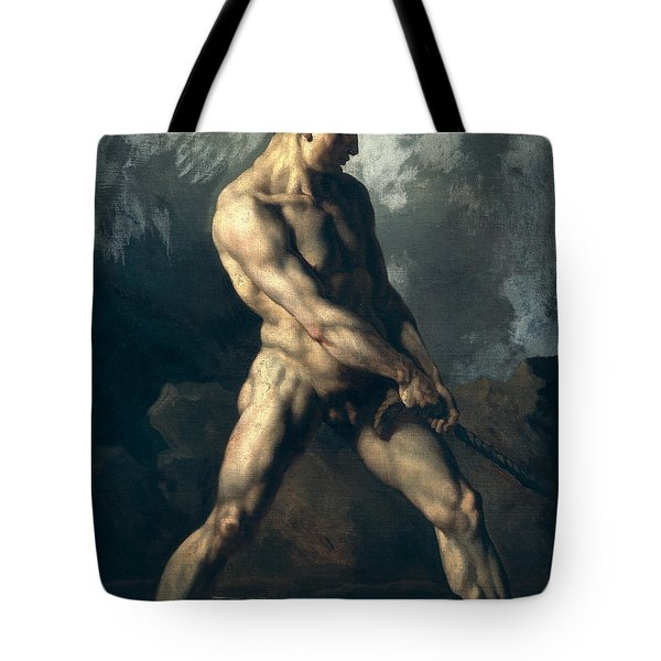 Study Of A Male Nude Tote Bag by Theodore Gericault