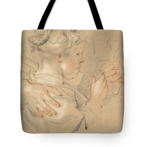 Study Of A Young Girl Drinking From A Glass Tote Bag