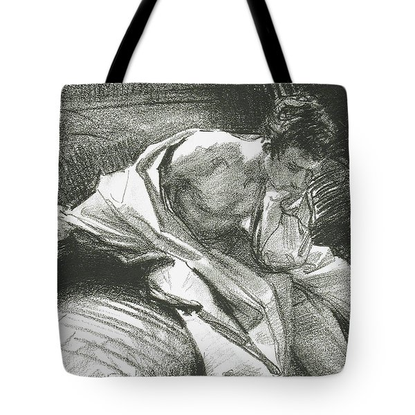 Study Of A Young Man Seated, 1895 Tote Bag