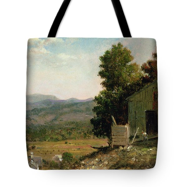 Study Of Old Barn In New Hampshire Tote Bag by George Loring Brown