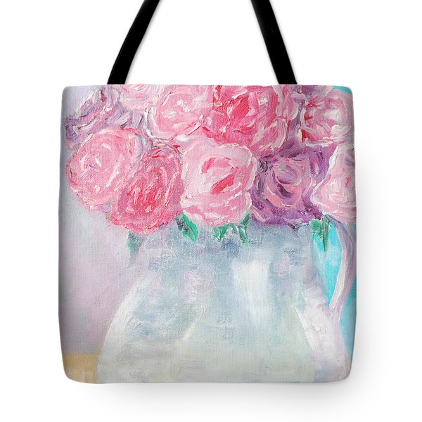 Tote Bag featuring the painting Study  by Reina Resto