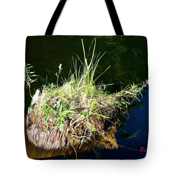 Tote Bag featuring the photograph Stump Art 11 by Sadie Reneau