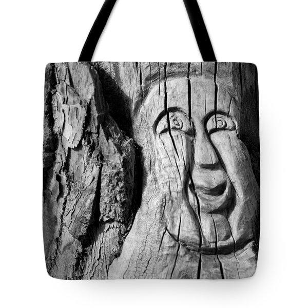 Stump Face 3 Tote Bag