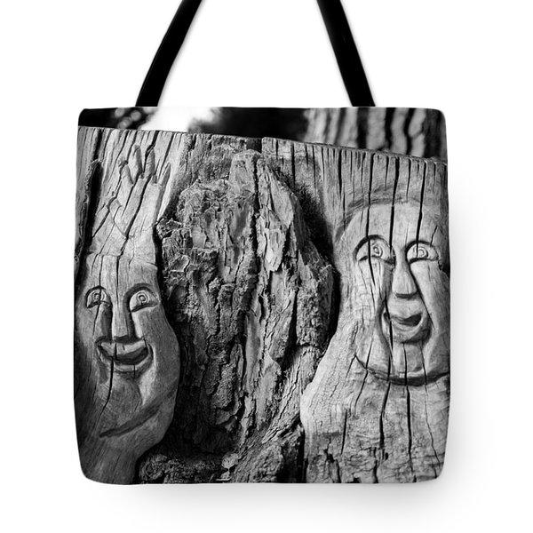 Stump Faces 2 Tote Bag