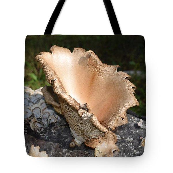 Stump Mushroom  Tote Bag