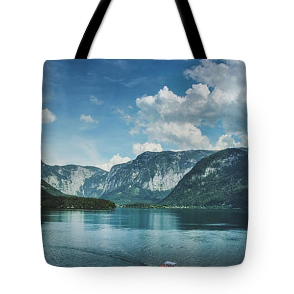 Stunning Lake Hallstatt Panorama Tote Bag