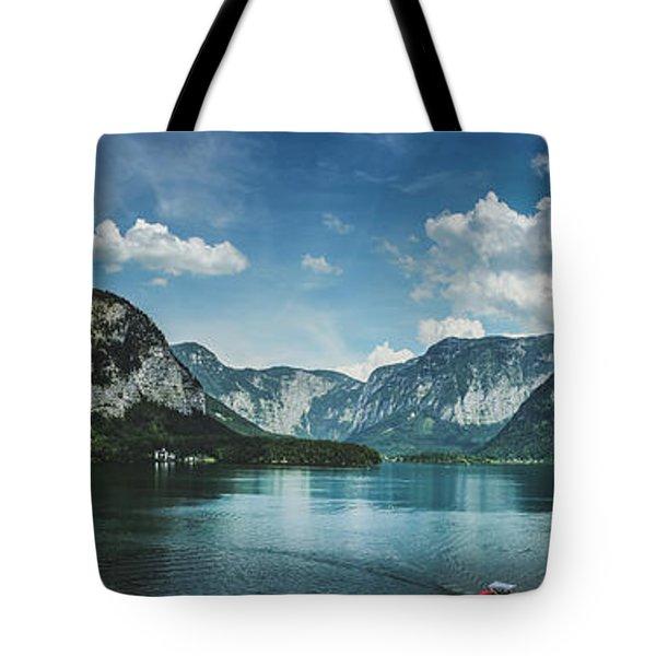 Stunning Lake Hallstatt Panorama Tote Bag