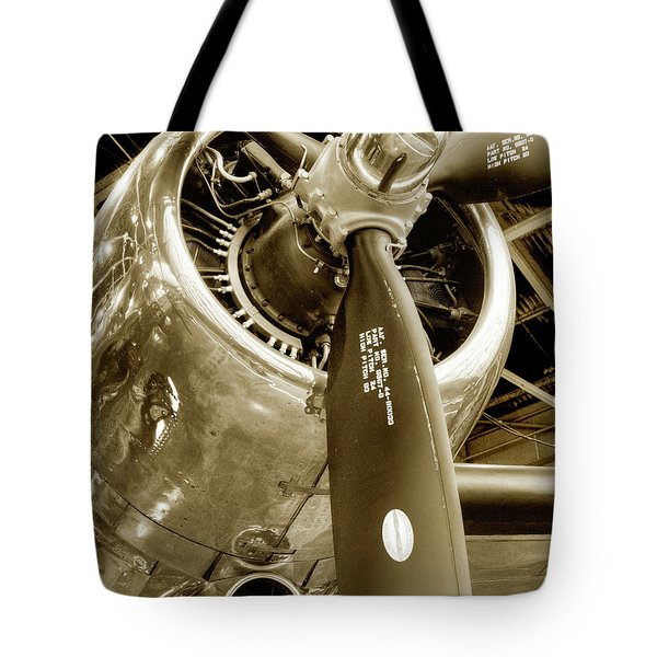 Tote Bag featuring the photograph Stunning Propeller In Sepia by Dennis Dame