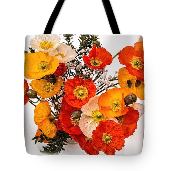 Stunning Vibrant Yellow Orange Poppies  Tote Bag