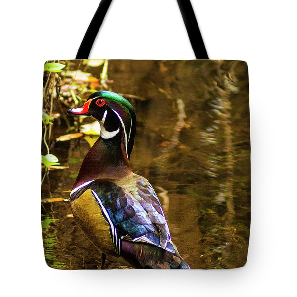 Stunning Wood Duck Tote Bag