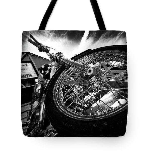 Stunt Bike Tote Bag