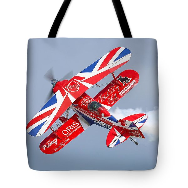 Tote Bag featuring the photograph Stunt Plane by Roy  McPeak