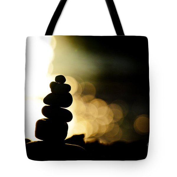 Stupa At Sea Coast Seascape Buddha Tote Bag