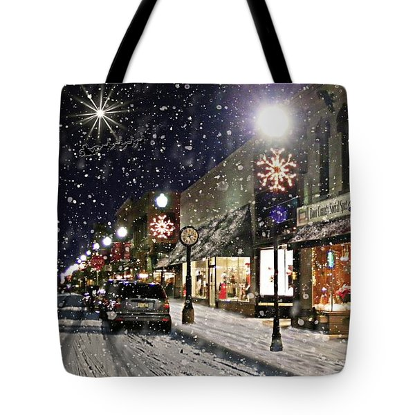 Sturgeon Bay On A Magical Night Tote Bag