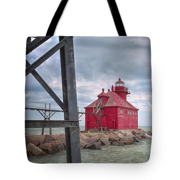 Sturgeon Bay Ship Canal North Pierhead Lighthouse 2 Tote Bag