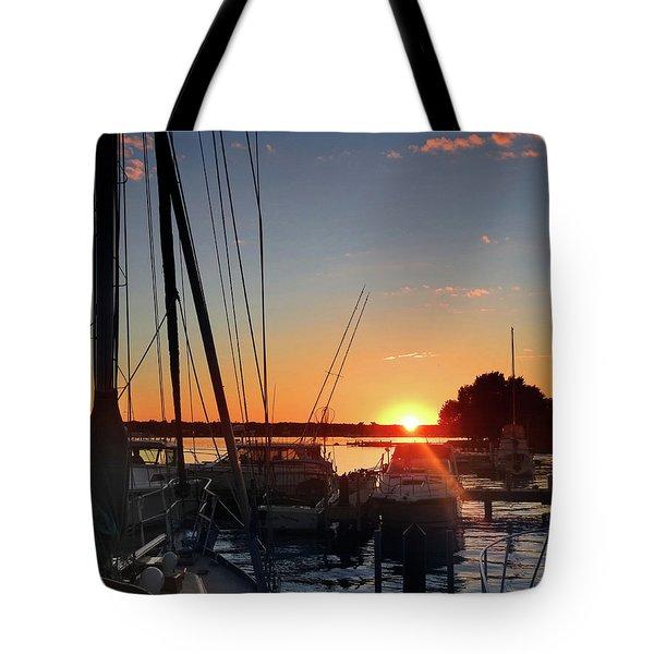 Sturgeon Bay Sunset Tote Bag