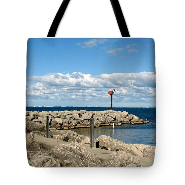 Sturgeon Point Marina On Lake Erie Tote Bag by Rose Santuci-Sofranko