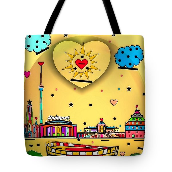 Stuttgart By Nico Bielow Tote Bag by Nico Bielow