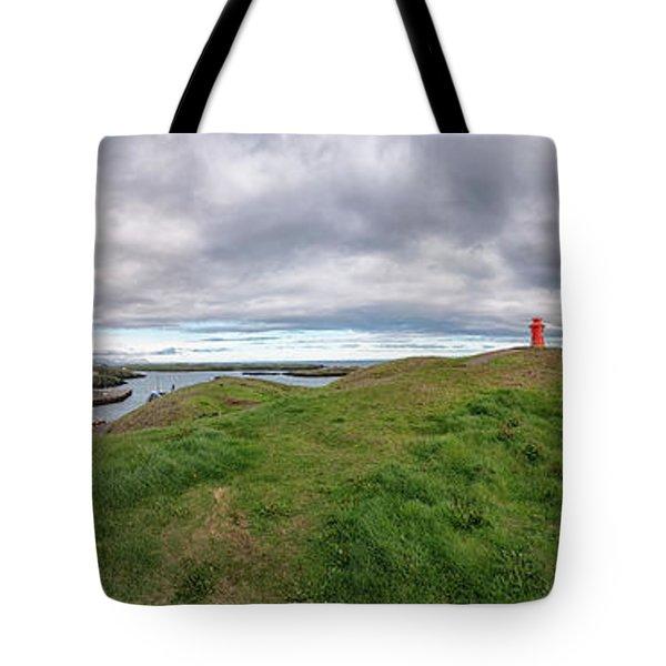 Stykkisholmur Harbor Pano Tote Bag